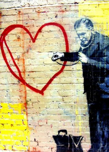 BANKSY - HEART DOCTOR canvas print - self adhesive poster - photo print